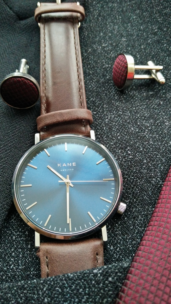 Kane Watches. Blue Artic Classic with suit and tie